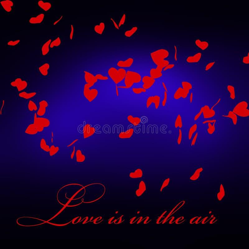 Liefde van letters voorziende illustratie Liefde het van letters voorzien voor uitnodiging en groetkaart royalty-vrije stock afbeelding