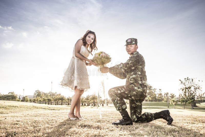 Liefde van militair royalty-vrije stock afbeelding
