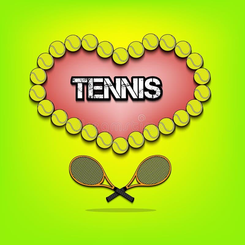 Liefde van tennis stock illustratie