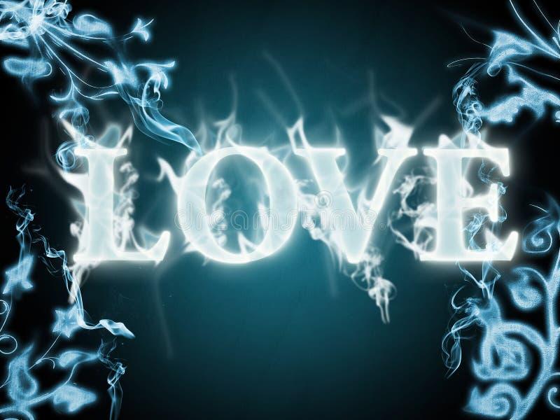 Liefde in vlammen stock afbeelding