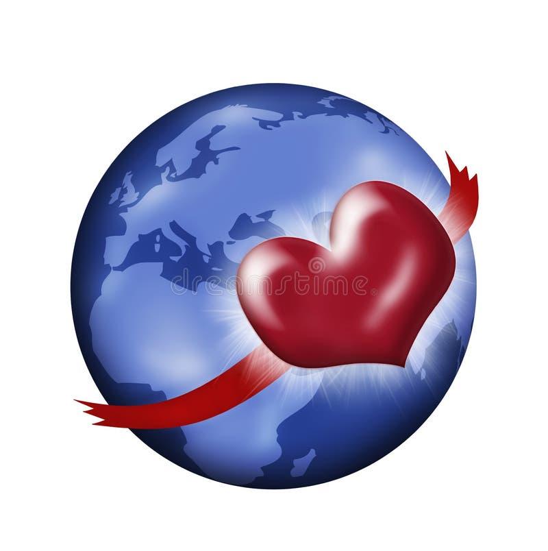 Liefde voor Aarde stock illustratie