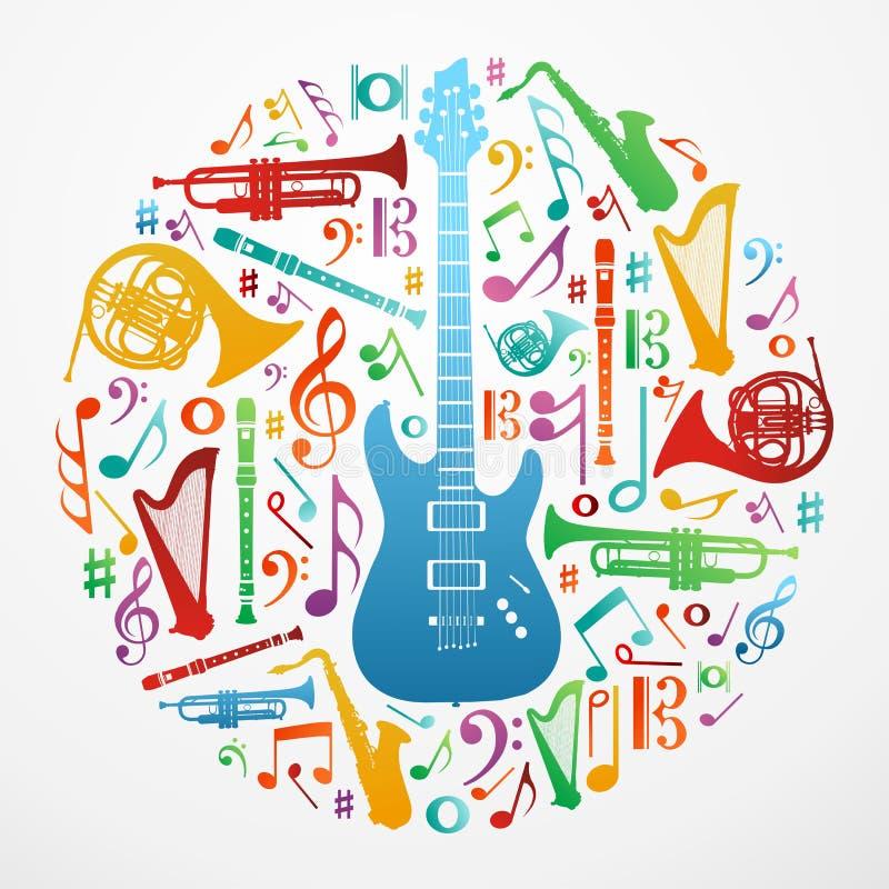 Liefde voor de illustratieachtergrond van het muziekconcept vector illustratie