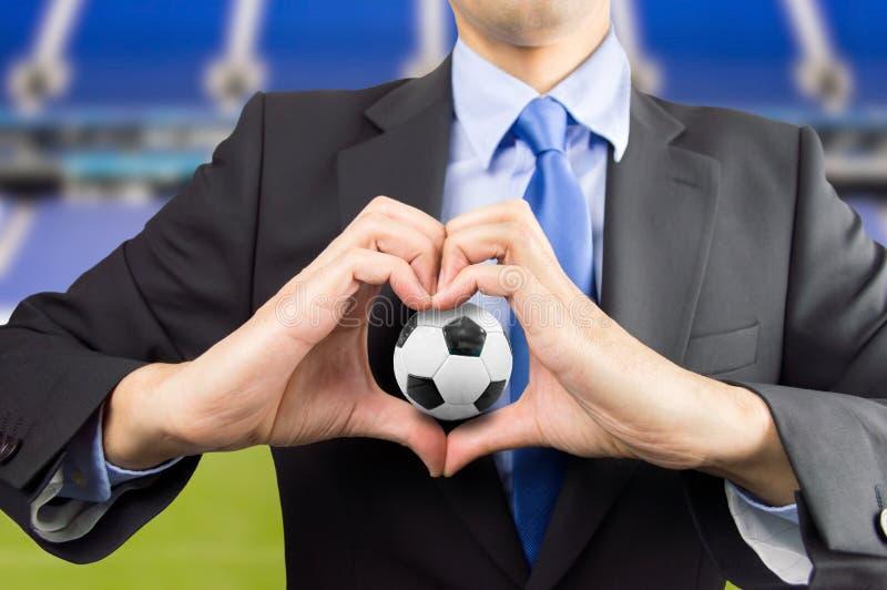 Liefde voor de voetbal stock foto's