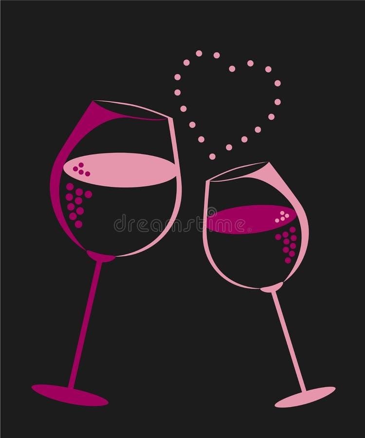 Liefde, wijn, restaurant royalty-vrije stock fotografie