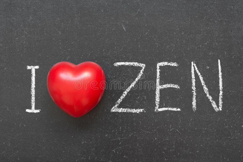 Liefde zen royalty-vrije stock afbeelding