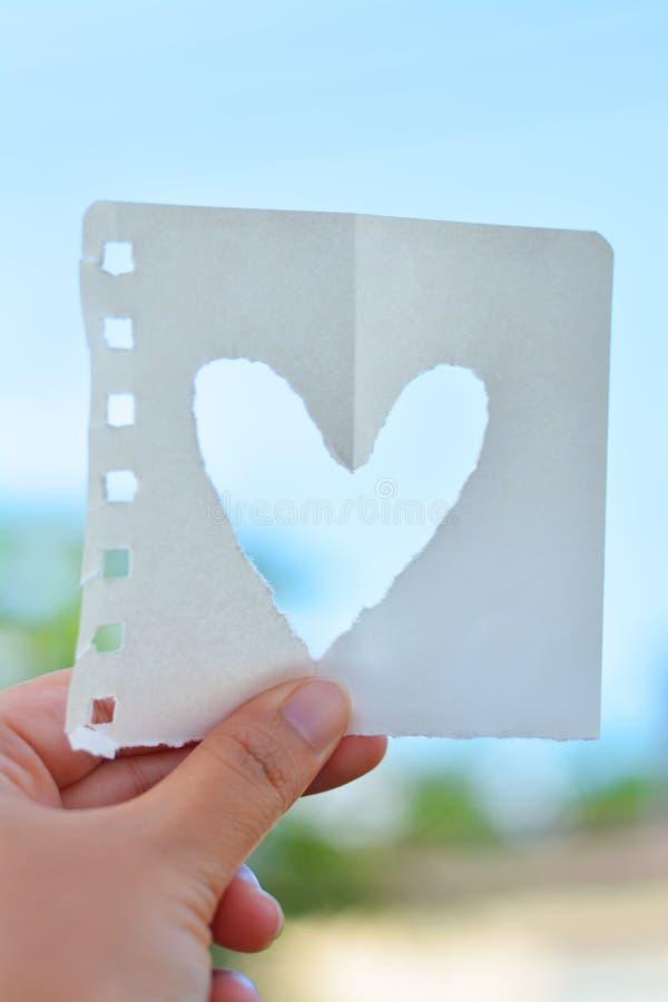 Liefde zoals de heldere hemel stock afbeelding