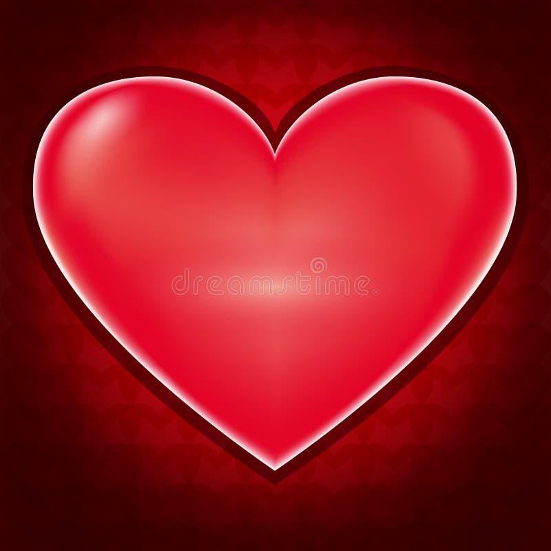 Liefdeachtergrond met hart voor Valentijnskaartendag vector illustratie