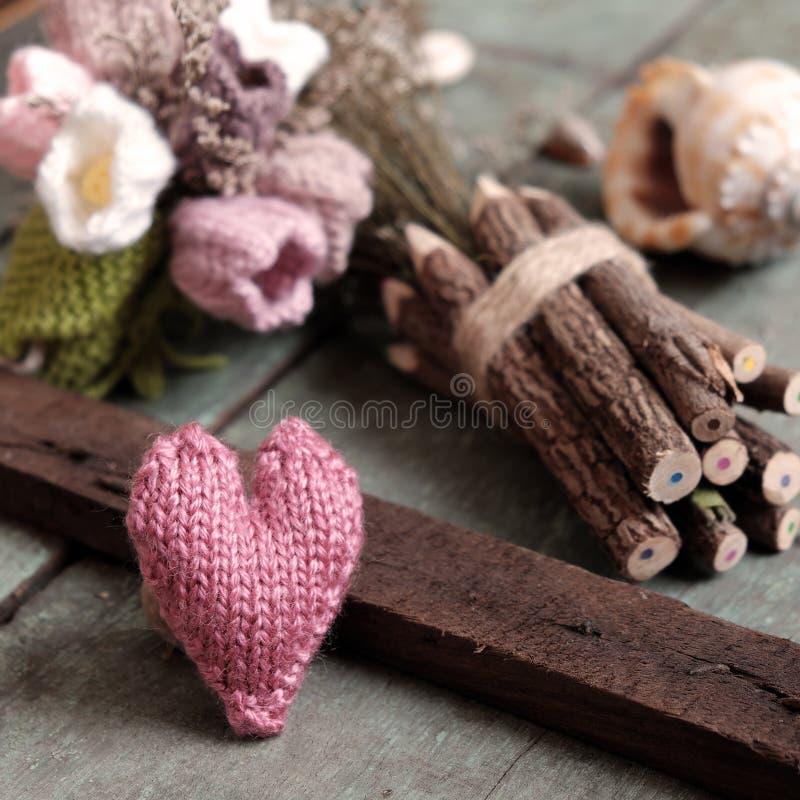 Liefdeachtergrond, valentijnskaartdag, diy moederdag, royalty-vrije stock afbeelding