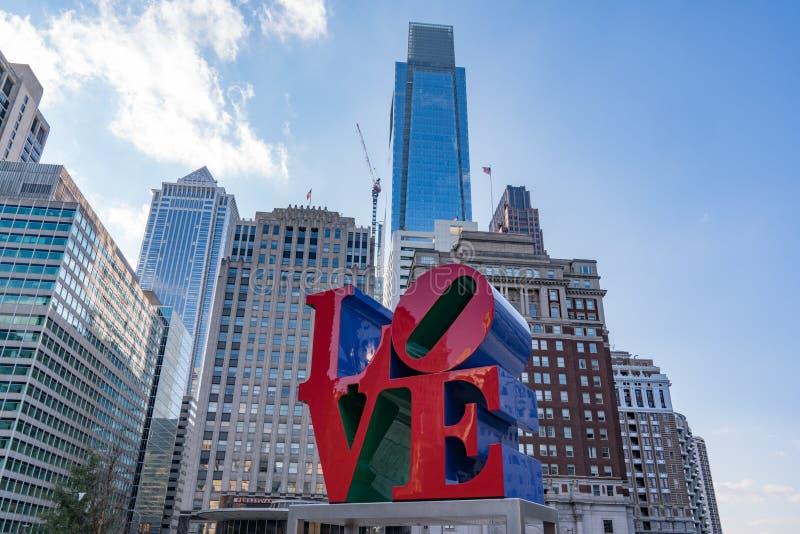 Liefdebeeldhouwwerk in Philadelphia, Pennsylvania stock afbeelding