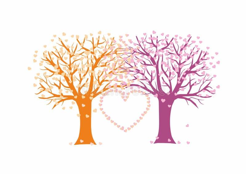 Liefdebomen royalty-vrije stock foto