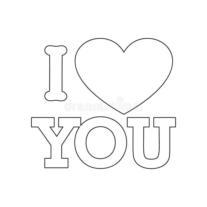 liefdeboom met hartenpictogram Element van valentijnskaart ?s dag, huwelijk voor mobiel concept en webtoepassingenpictogram Overz vector illustratie