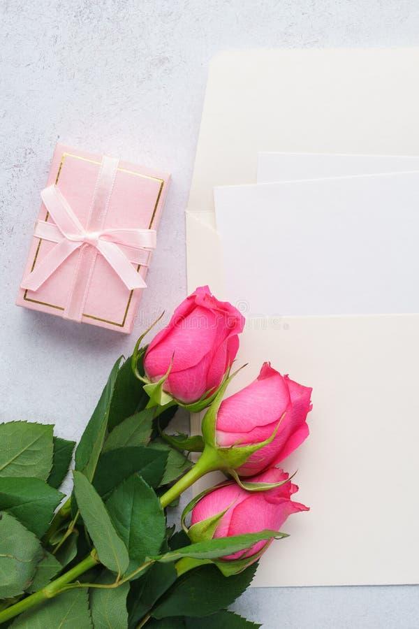 Liefdebrief of de dag het model van de groetkaart van Valentine royalty-vrije stock afbeeldingen