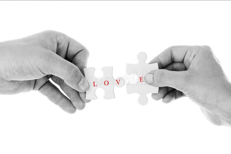 Liefdeconcept - Figuurzaag van liefde in Zwarte & Witte kleur royalty-vrije stock foto