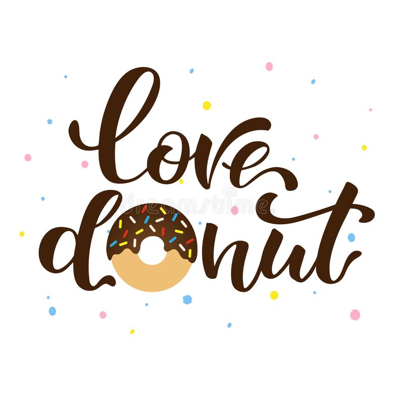 Liefdedoughnut vector illustratie