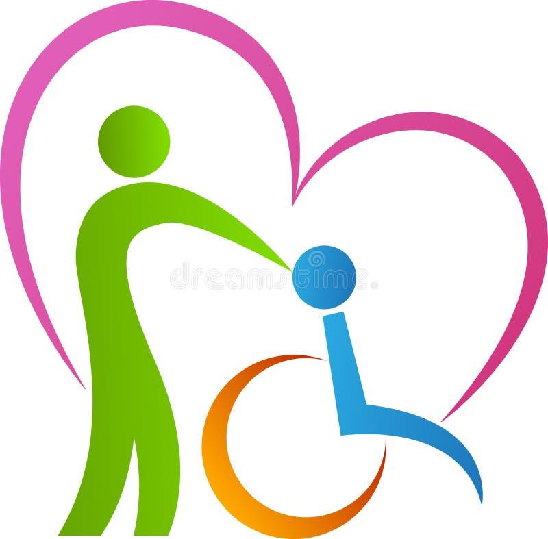 Liefdegehandicapten vector illustratie