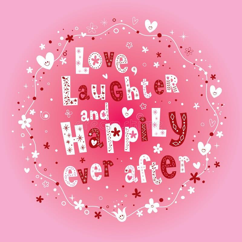 Liefdegelach en gelukkig ooit daarna vector illustratie