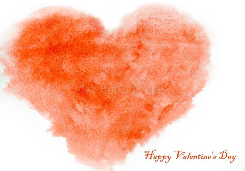 Liefdehart, de prentbriefkaar van de valentijnskaart` s dag stock illustratie