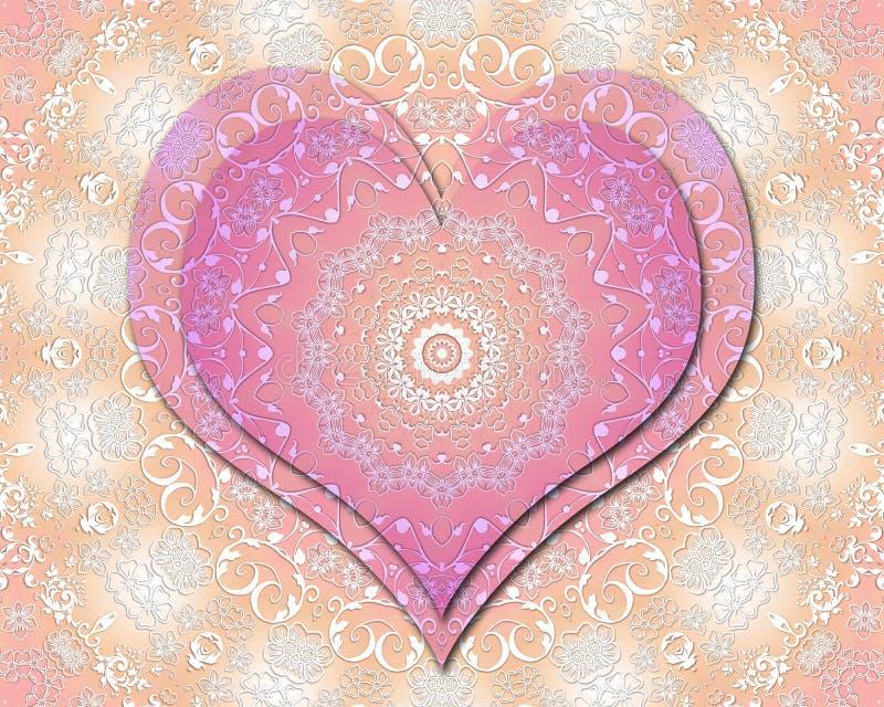 Liefdemandala vector illustratie