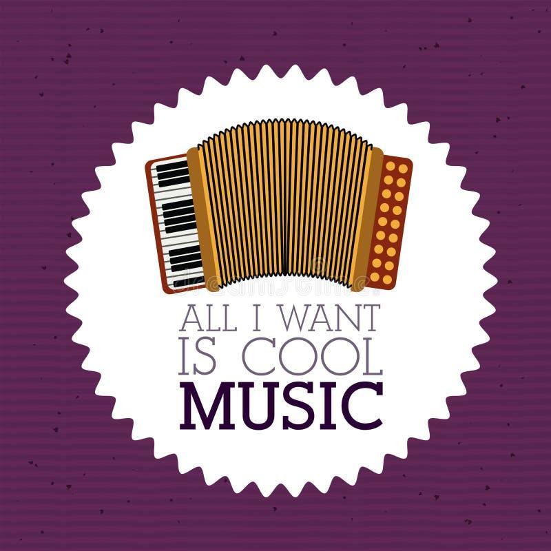 Liefdemuziek stock illustratie