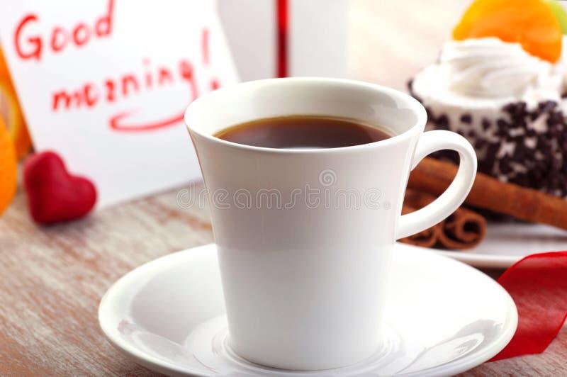 Liefdeontwerp met ochtendkoffie royalty-vrije stock foto