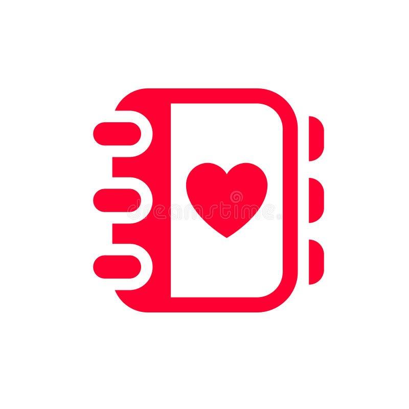 Liefdepictogram of de dagteken van Valentine voor viering wordt ontworpen die stock illustratie