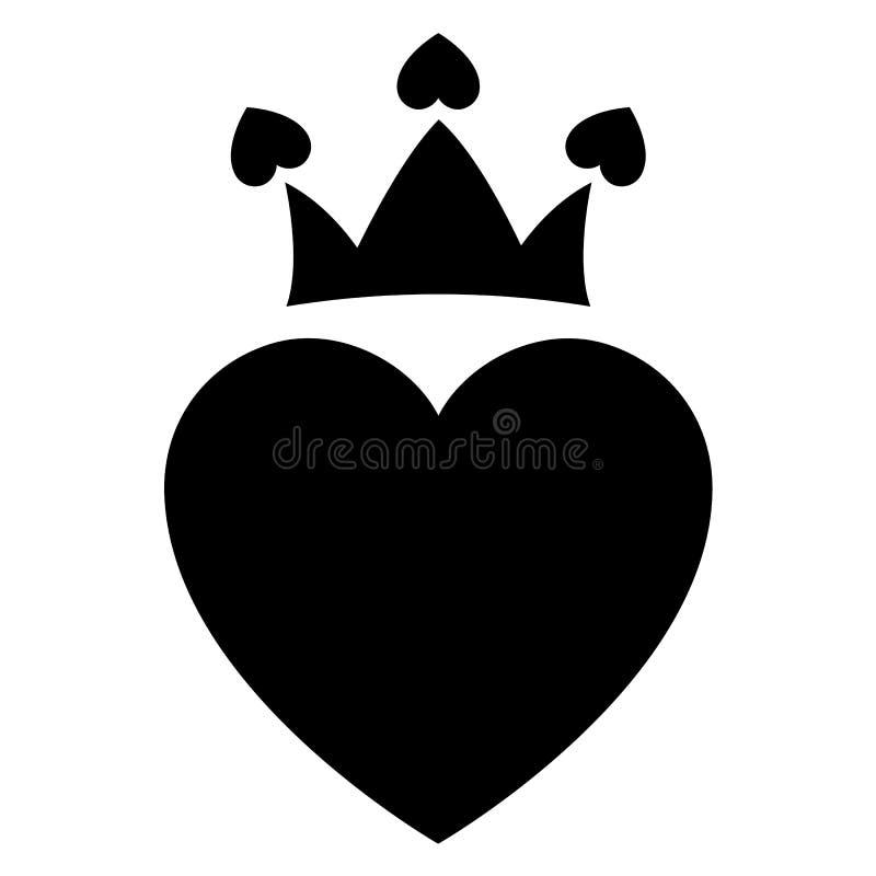 Liefdepictogram of de dagteken van Valentine voor viering wordt ontworpen die royalty-vrije illustratie