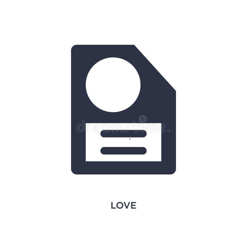 liefdepictogram op witte achtergrond Eenvoudige elementenillustratie van literatuurconcept vector illustratie