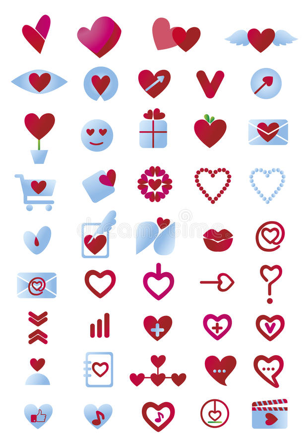 Liefdepictogrammen vector illustratie