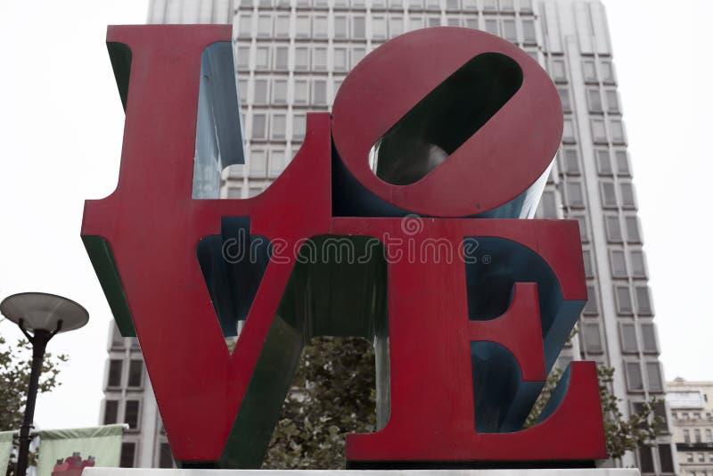 Liefdestandbeeld stock foto's