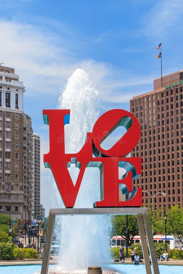 Liefdestandbeeld in Philadelphia stock fotografie