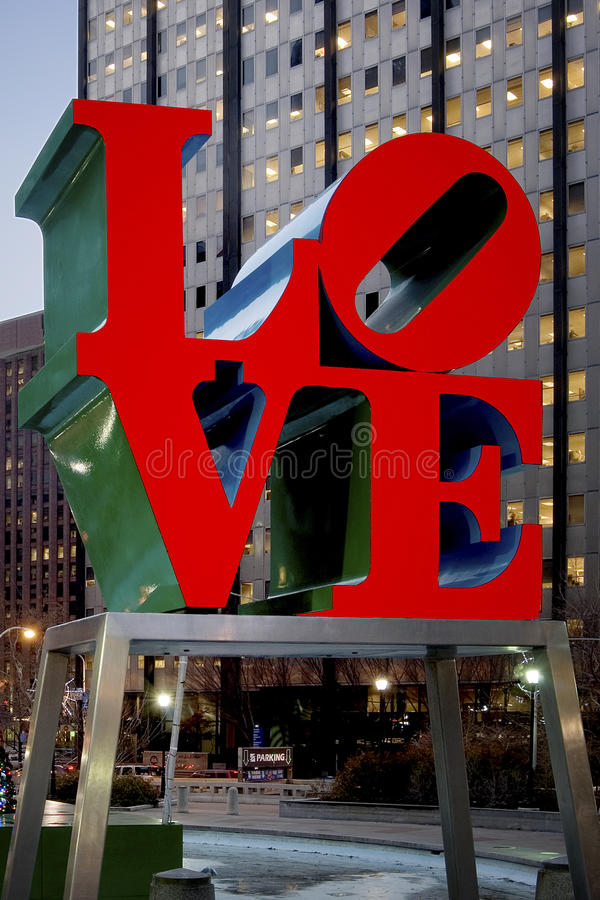 LIEFDEstandbeeld, Philadelphia, Pennsylvania stock afbeelding