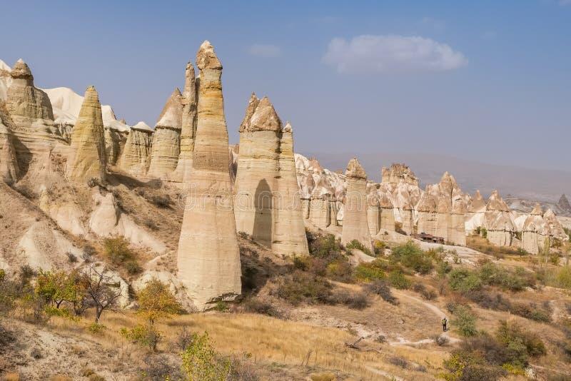 Liefdevallei in Cappadocia-gebied, Turkije stock afbeelding