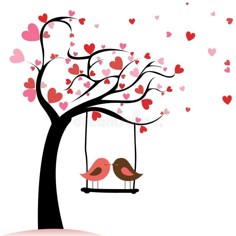 Liefdevogels stock illustratie