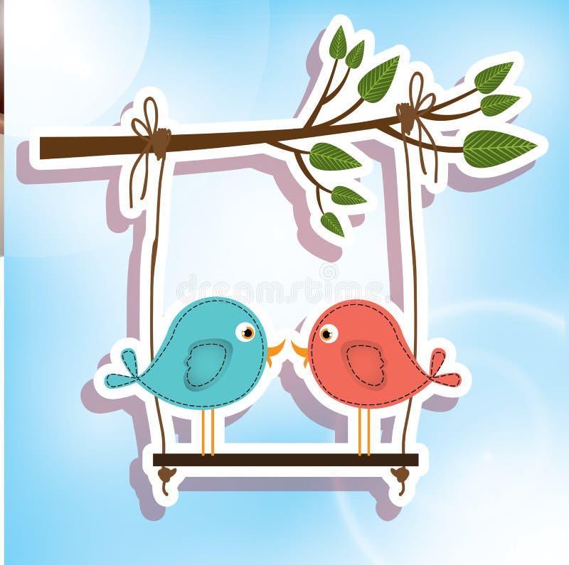Liefdevogels vector illustratie