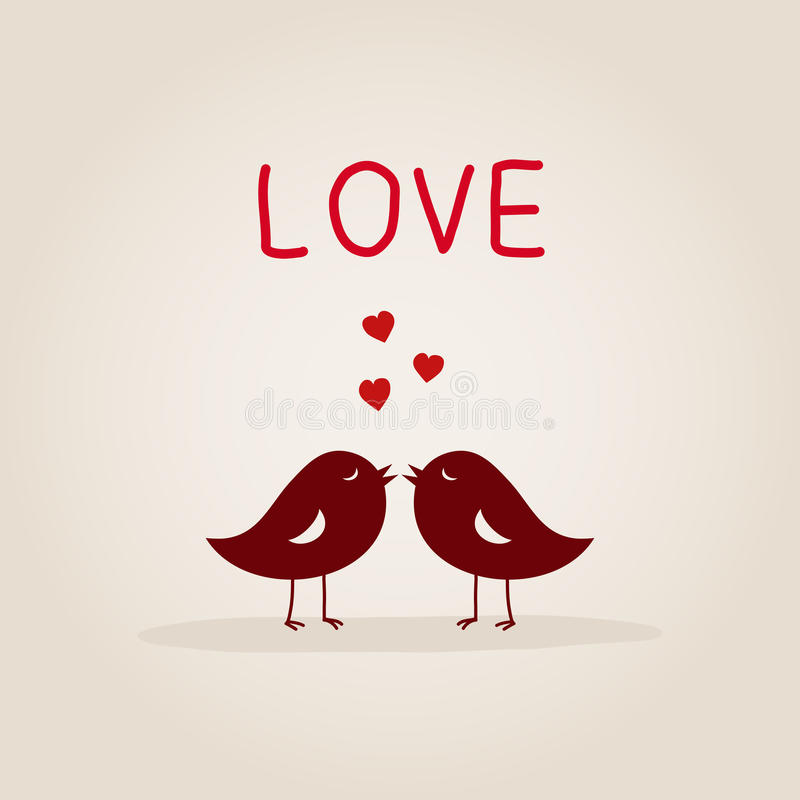 Liefdevogels royalty-vrije illustratie