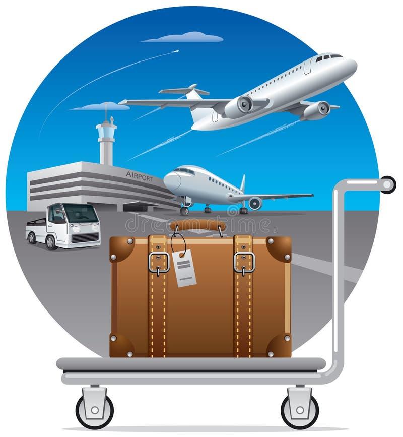 Lieferung des Gepäcks, Koffer stock abbildung