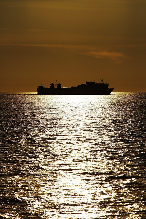 Lieferung und Sonnenuntergang stockfoto