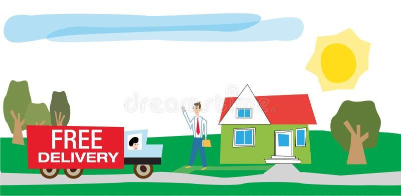 Lieferung von Waren lizenzfreie abbildung