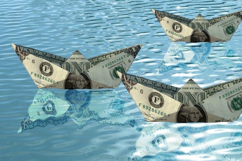 Lieferungen vom Dollar stockbilder