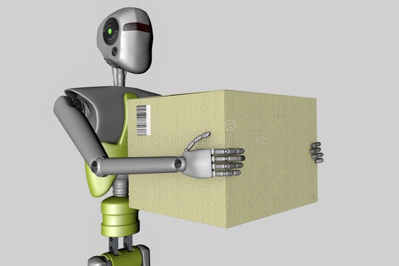 Lieferungs-Roboter lizenzfreie abbildung