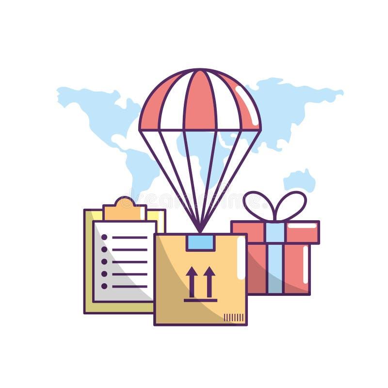 Lieferungstransport zum Paketbestellungsservice vektor abbildung