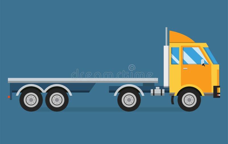 Lieferungsvektortransport-LKW-Packwagen und -Geschenkbox vektor abbildung
