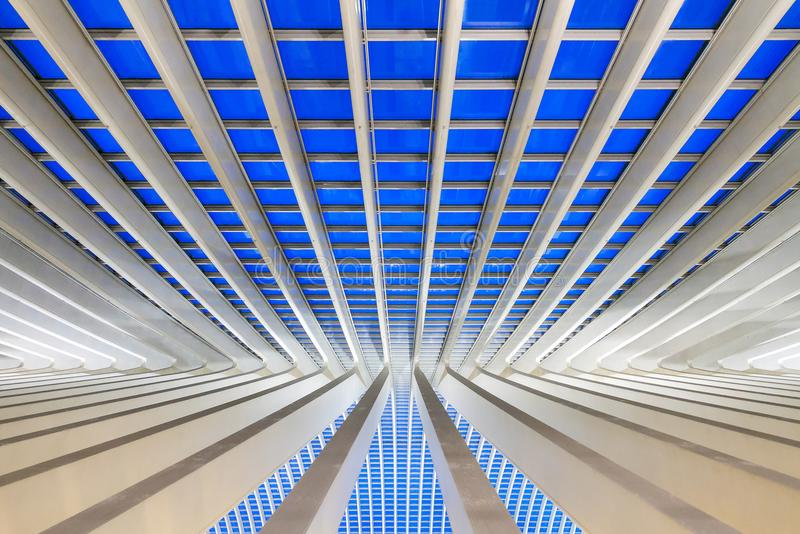 Liege abstract lines royalty free stock photo