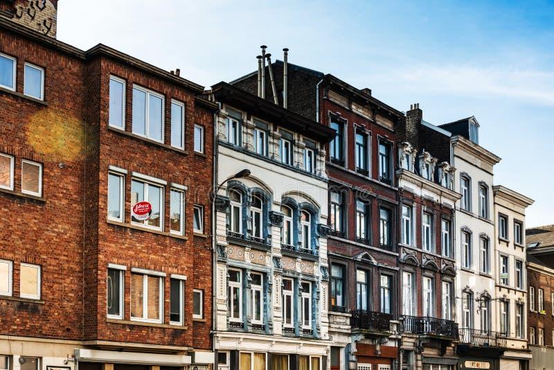 LIEGE, BELGIUM. February 24, 2018: view of Buildings around Liege city, Belgium stock photos