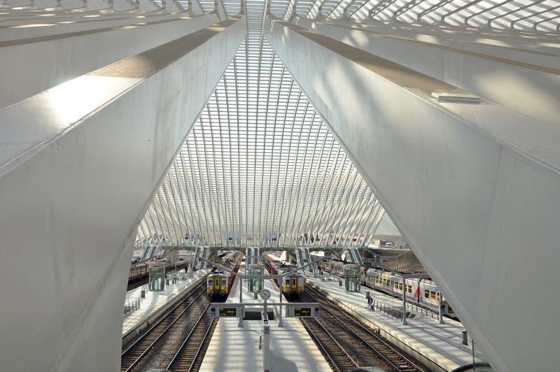 Liege-Guillemins railway station stock photos
