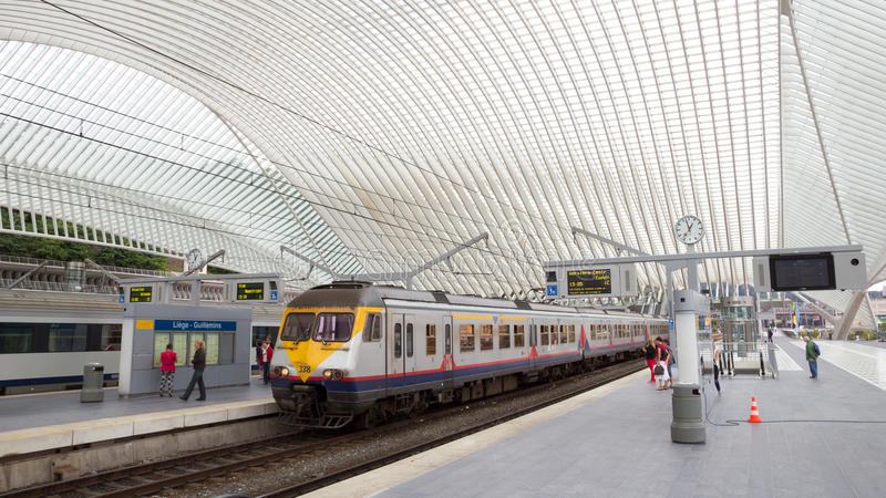 Liege railway station royalty free stock images