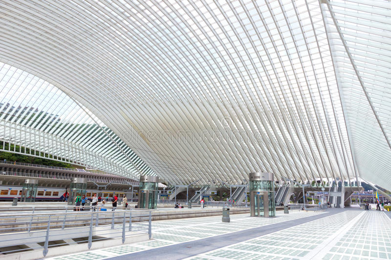 Liege station stock photography