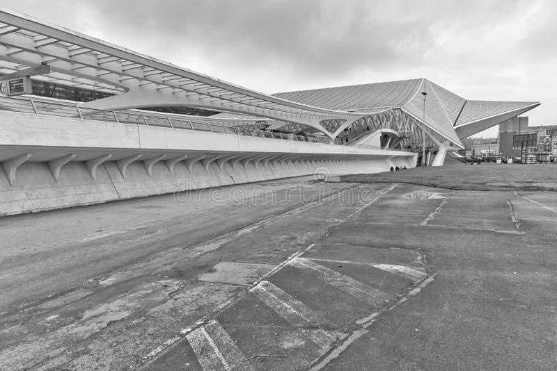 LIEGI, BELGIO - dicembre 2014: Vista laterale di Liegi-Guillemin immagine stock