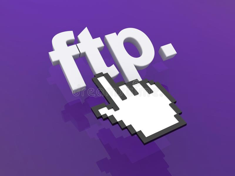 Lien de ftp illustration stock