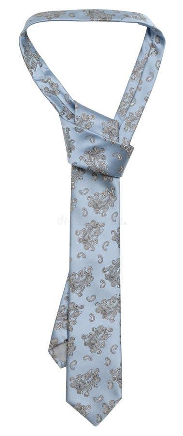 Lien en soie bleu image stock
